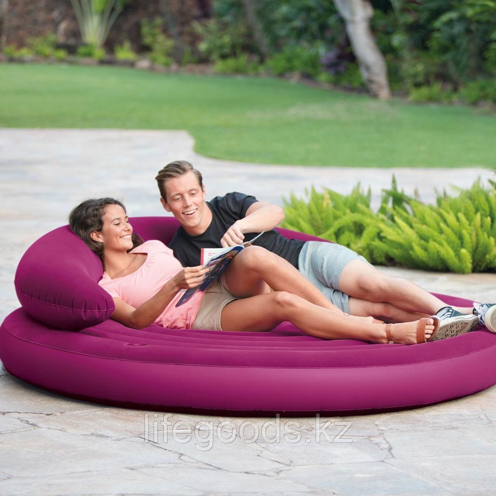 Надувной диван-матрас круглый, Intex 68881
