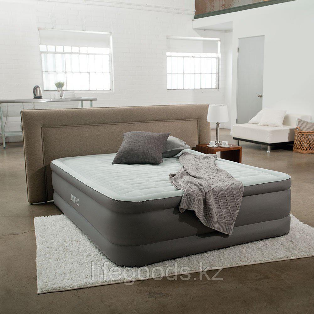 Двуспальная надувная кровать со встроенным насосом, Intex 64486