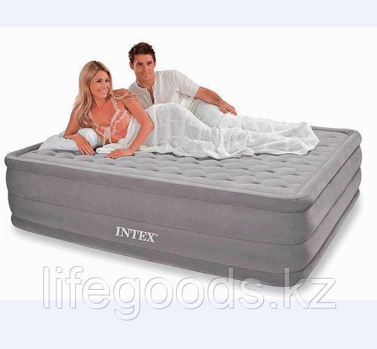 Двуспальная надувная кровать со встроенным насосом, Intex 66958