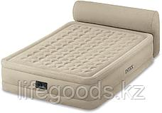 Двуспальная надувная кровать со спинкой и встроенным насосом, Intex 64460, фото 3