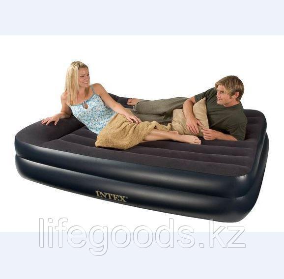 Двуспальная надувная кровать со встроенным насосом, Intex 66702