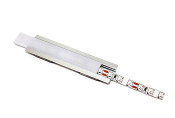 Алюминиевый профиль для подсветки  с рассеивателем  (встраиваемый  закругленный, 24.1*6,9мм)