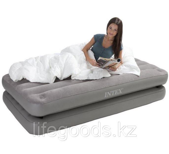 Односпальная надувная кровать - матрас 2 в 1, Intex 67743