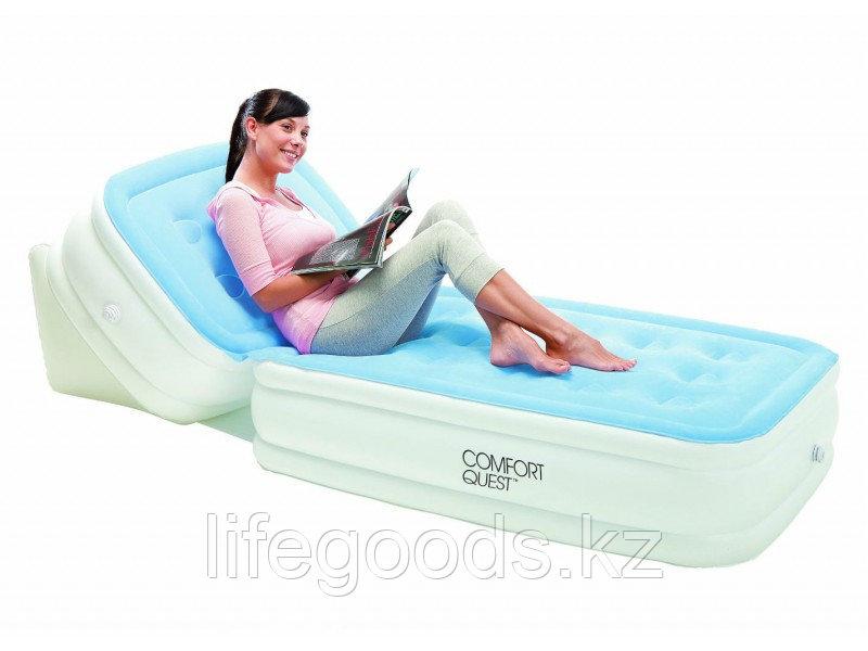 Односпальная надувная кровать с регулируемой спинкой, Bestway 67386