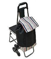 Сумка - тележка на колесах со складным стулом, фото 1