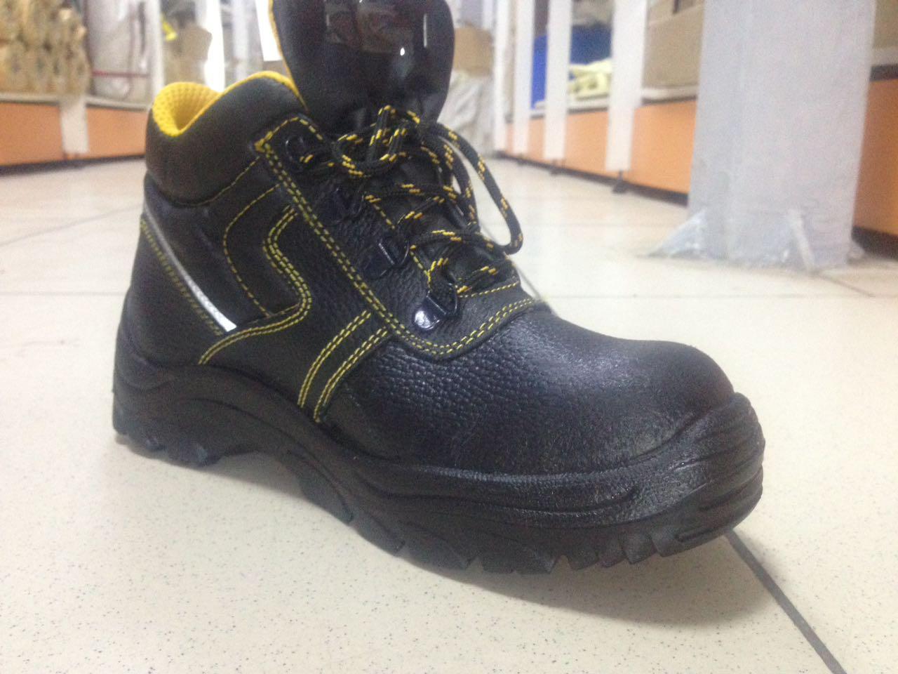 Ботинки кожаные PROFI c МП (БОТ 841)