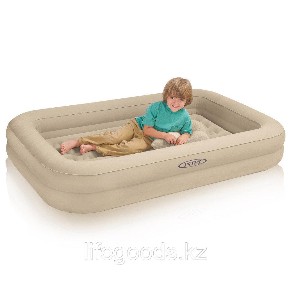 Детская надувная кровать с ручным насосом, Intex 66810