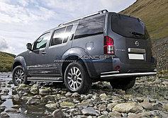 Обвес, защита бамперов, порогов из нержавеющей стали Nissan Pathfinder 2010-2014