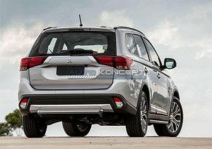 Защита заднего бампера d57 короткая Mitsubishi Outlander 2015-