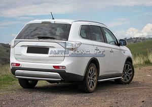 Защита заднего бампера d57 Mitsubishi Outlander 2012-2014