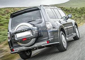 Защита заднего бампера d76 уголки Mitsubishi Pajero IV 2014-