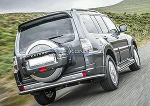 Защита заднего бампера d76 Mitsubishi Pajero IV 2014-