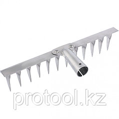 Грабли 12-зубые витые, 290 мм, нерж. сталь, без черенка// СИБРТЕХ Россия