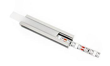 Алюминиевый профиль для подсветки с рассеивателем  (встраиваемый прямой, 23,8*12мм)