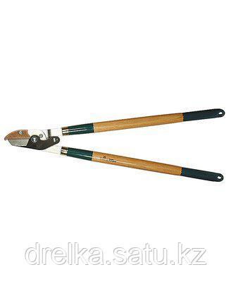 Сучкорез садовый RACO 4213-53/272, с дубовыми ручками, 2-рычажный, с упорной пластиной, рез до 40мм, 700мм