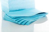 Салфетки 33*45 нагрудные ламинированные голубые, фото 1