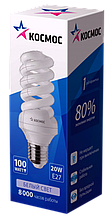 Лампа люминесцентная компакт. SPC 20Вт E27 2700К трубка Т3 Космос
