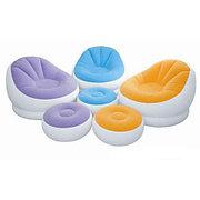 Надувное кресло с пуфиком, 3 цвета, Intex 68572