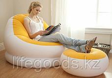 Надувное кресло с пуфиком, 3 цвета, Intex 68572, фото 2