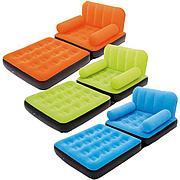 Надувное кресло-трансформер с велюром, Bestway 67277
