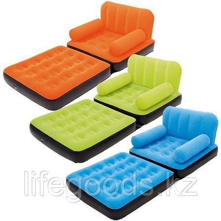 Надувное кресло-трансформер с велюром, Bestway 67277, фото 2