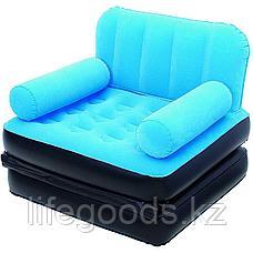 Надувное кресло-трансформер с велюром, Bestway 67277, фото 3