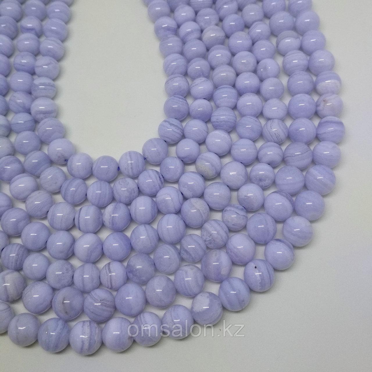 Сапфирин (голубой агат), 8мм