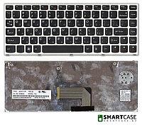 Клавиатура для ноутбука Lenovo IdeaPad U460 (серая, RU)