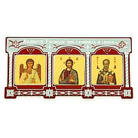 "Триптих в авто ""Ангел Хранитель. Иисус Христос. Николай Чудотворец"", фото 1"
