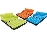 Надувной диван-трансформер с велюром, 3 цвета, Bestway 67356