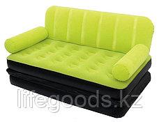 Надувной диван-трансформер с велюром, 3 цвета, Bestway 67356, фото 3
