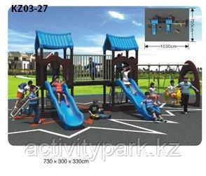 Уличные комплексы для детской игровой площадки