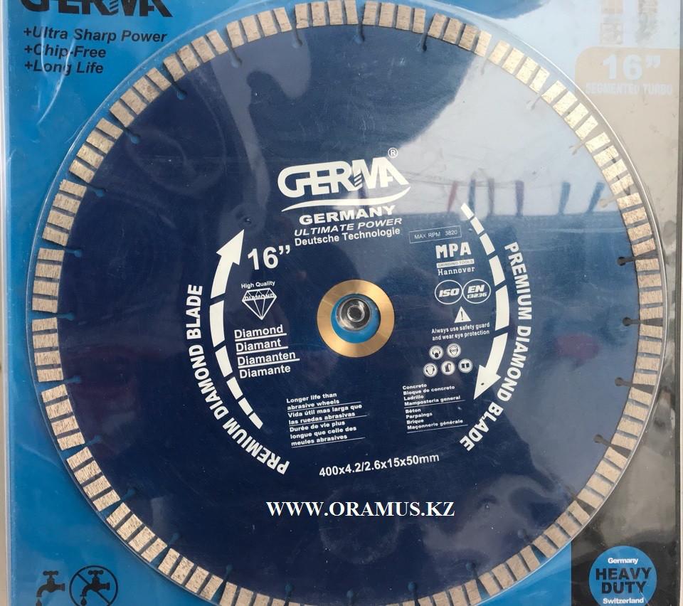 Алмазный диск по бетону 400мм высотка сегмента 1,2мм Германия