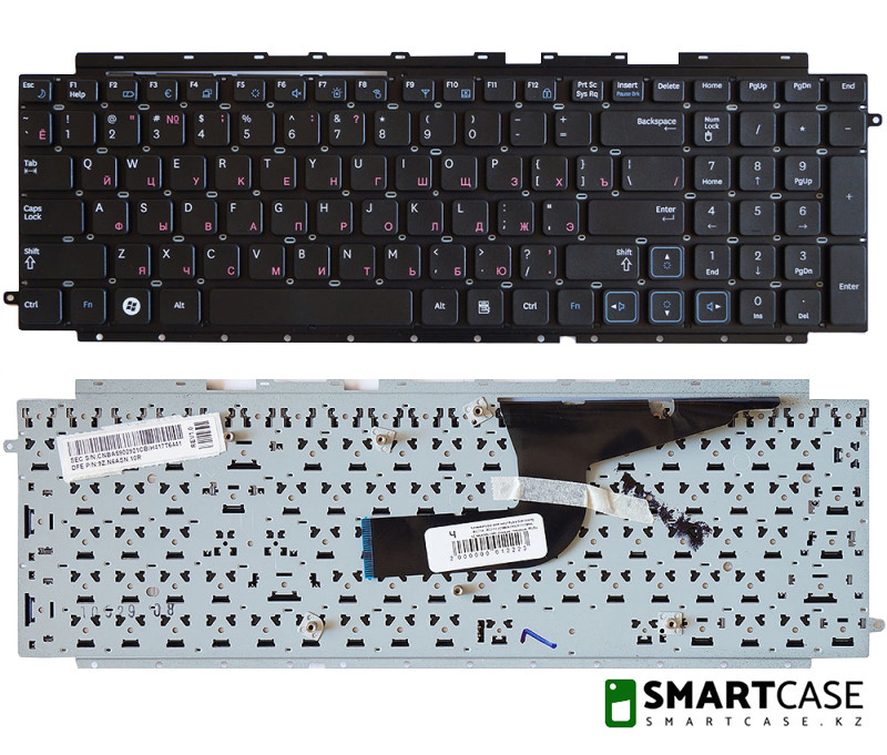 Клавиатура для ноутбука Samsung RC710, 9Z.N6ASN.10R (черная, RU)