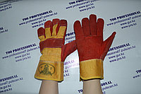 Перчатки комбинированные спилковые Ангара, фото 1