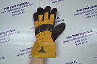 Перчатка комбинировнная спилковая рабочая трал усиленный, фото 1