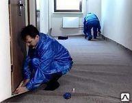 Укладка, монтаж ковролина, ковровой плитки