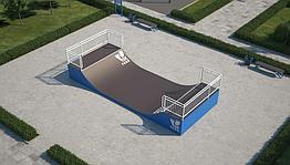 Мини-рампа М-1 (материал: металл) для скейтбординга