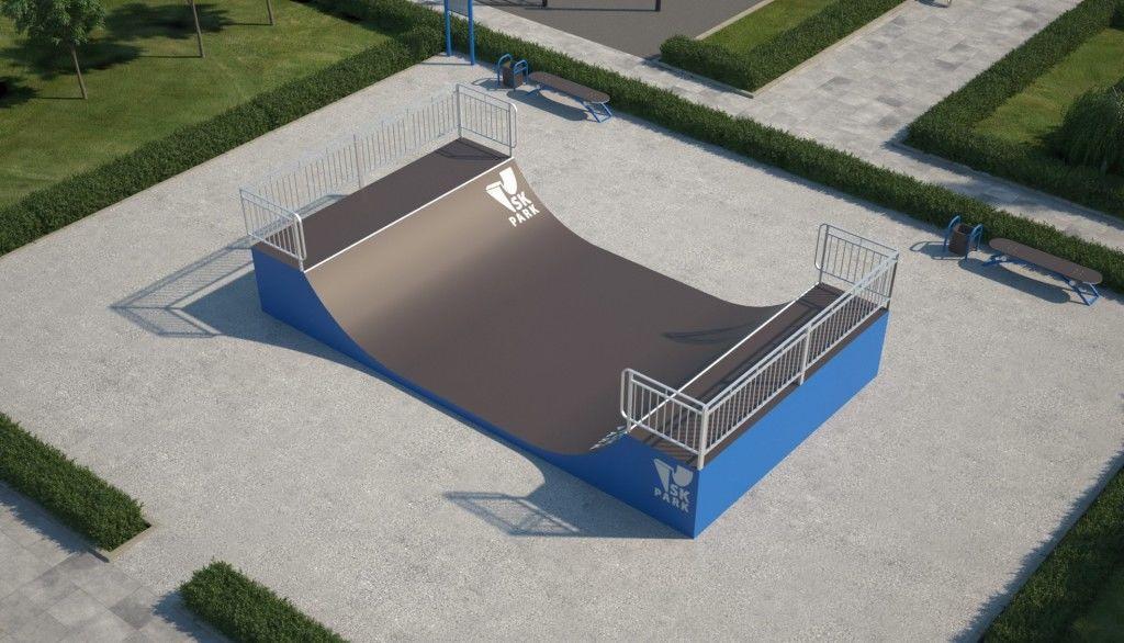 Мини-рампа М-2 (материал:металл) для скейтбординга