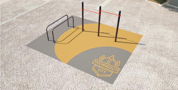 Площадка для тренировки воркаута и подготовки сдачи норм ВФСК AWp-1