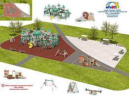 Установка ДСК детских и спортивных комплексов