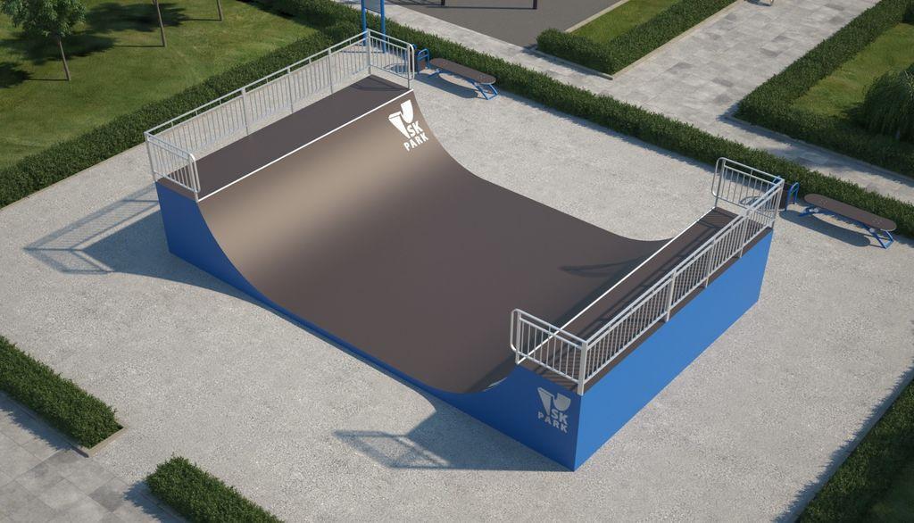 Мини-рампа М-3 (материал: металл) для скейтбординга