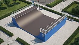 Мини-рампа М-4 (материал: металл) для скейтбординга