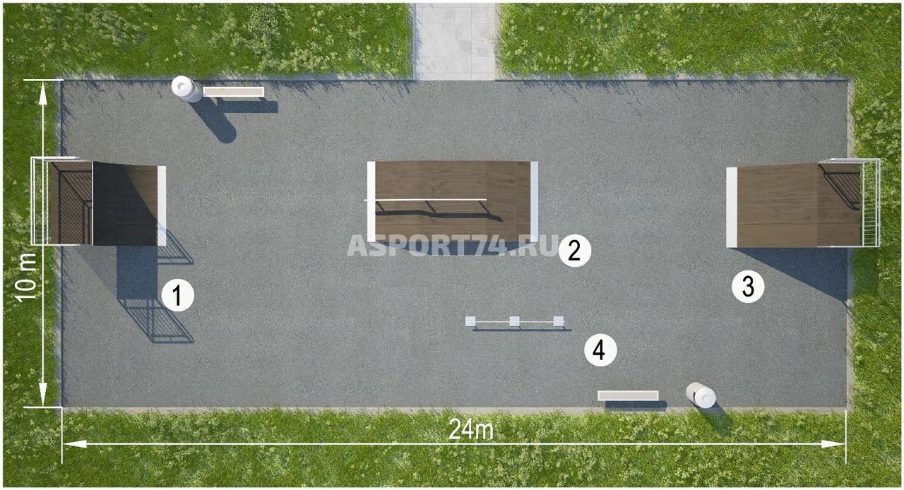 Площадки для скейтпарков