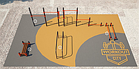 Площадка для тренировки воркаута и подготовки сдачи норм ВФСК AWp-5