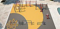 Площадка для тренировки воркаута и подготовки сдачи норм ВФСК AWp-13