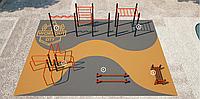 Площадка для тренировки воркаута и подготовки сдачи норм ВФСК AWp-9