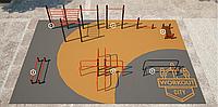 Площадка для тренировки воркаута и подготовки сдачи норм ВФСК AWp-10