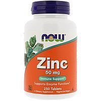 Цинк, 50 мг ,Now Foods, 250 таблеток, фото 1