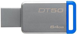 USB Флеш 64GB 3.0 Kingston DT50/64GB металл